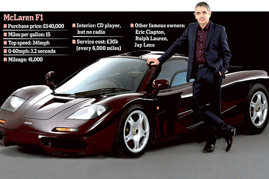 Rowan Atkinson S Mclaren F1 For Sale